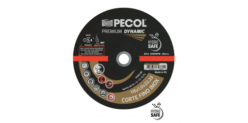 Fine Dynamic Premium 125x1 Stainless Steel Cutting Disc - PECOL