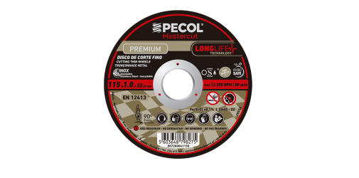 Fine Long Life Premium 115x1 Stainless Steel Cutting Disc - PECOL