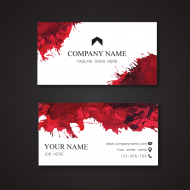 Personalized Business Card | Horizontal Format - Splatters Business Card